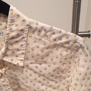 Steven Alan button down print shirt - size s